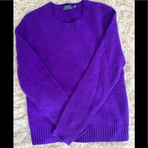 Cashmere Polo Ralph Lauren Crewneck Sweater, Sz- L
